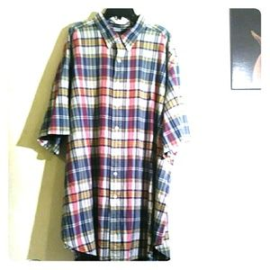 Ralph Lauren 3XLT Plaid short sleeve button-down